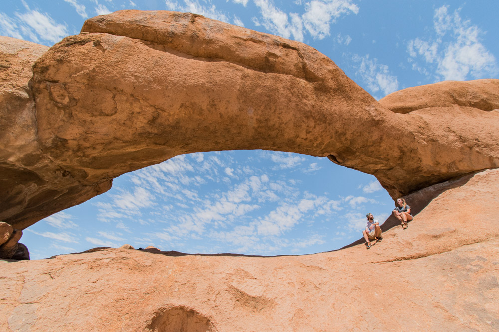 Spitzkoppe rock arch in Namibie