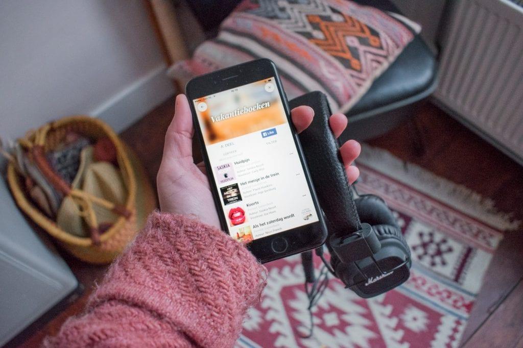 Storytel app reis boeken luisteren