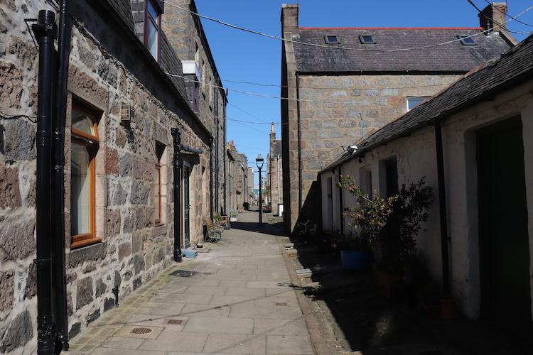 Straatjes in Aberdeen city