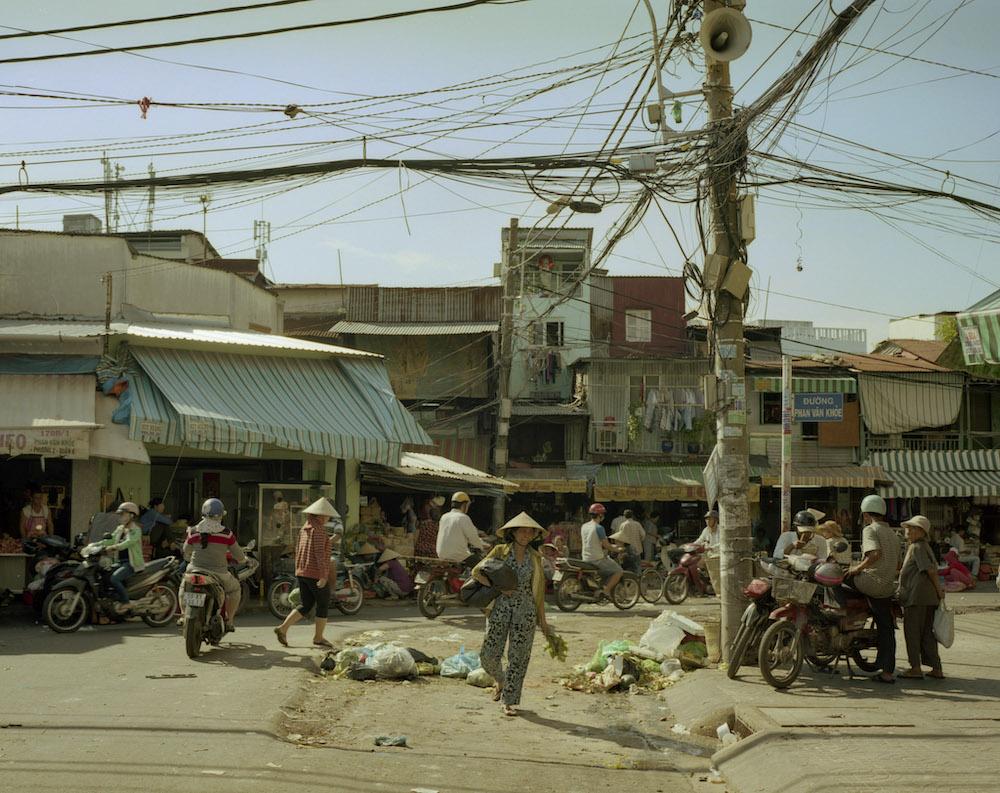 Straatleven in saigon vietnam