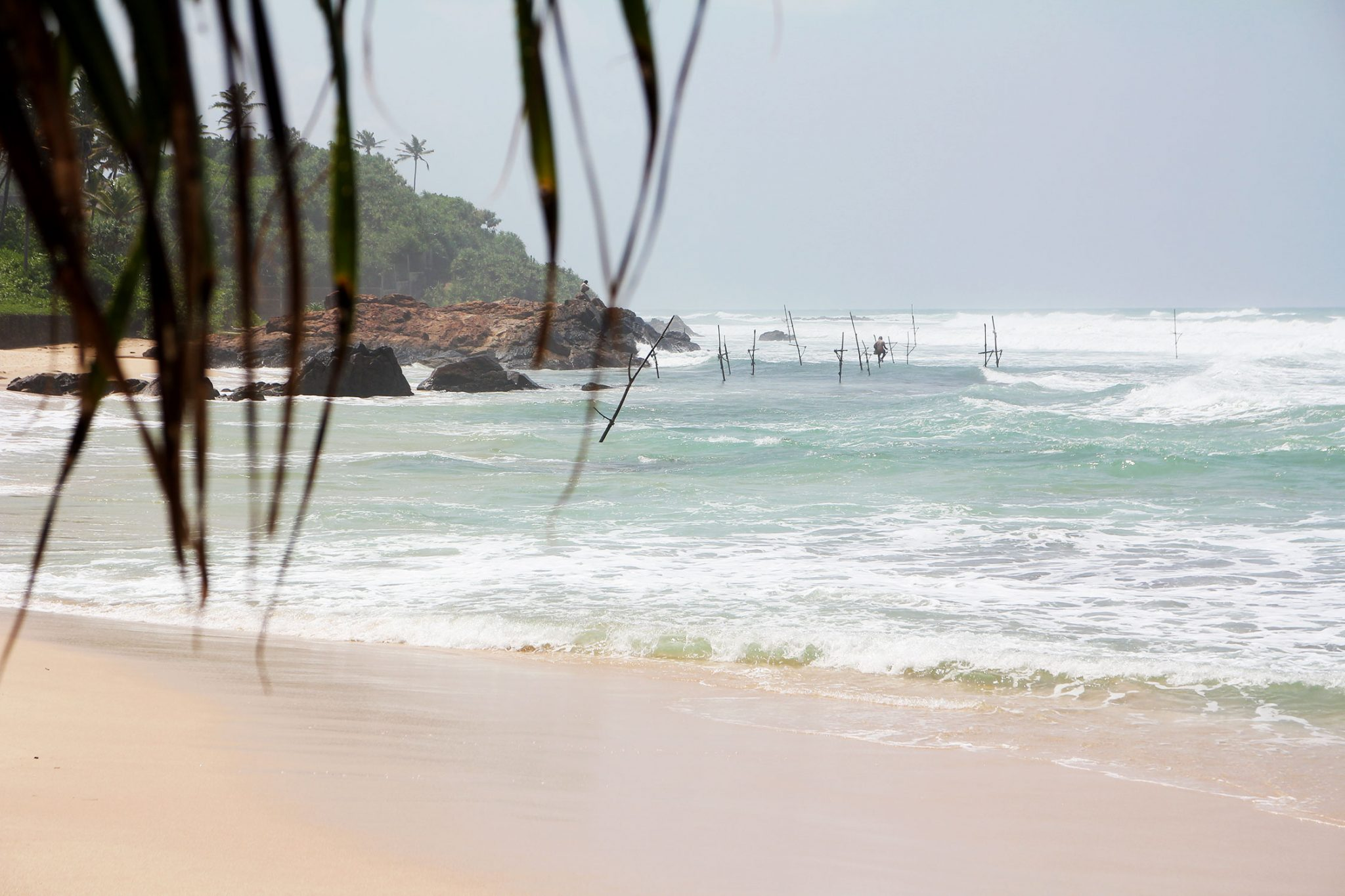 Strand in weligama vissers