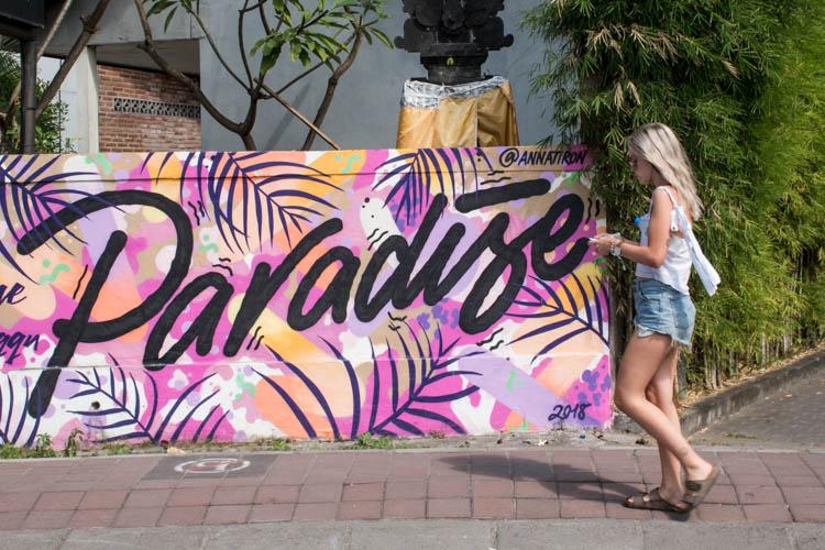 Streetart in canggu bali