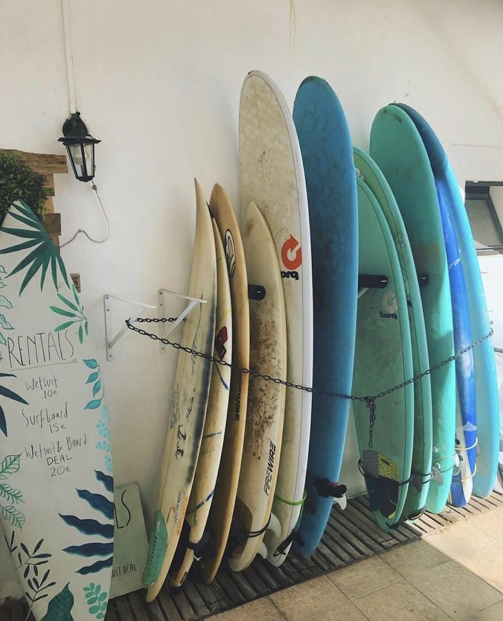 Surfplanken in Portugal