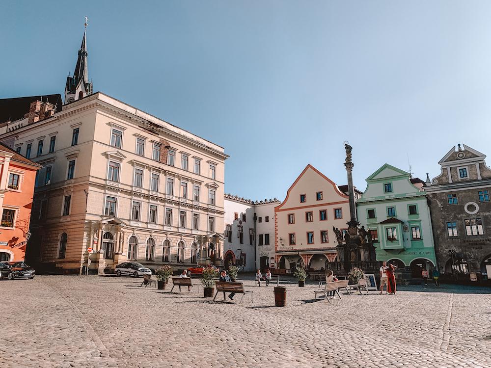 Svornosti-plein in Cesky Krumlov