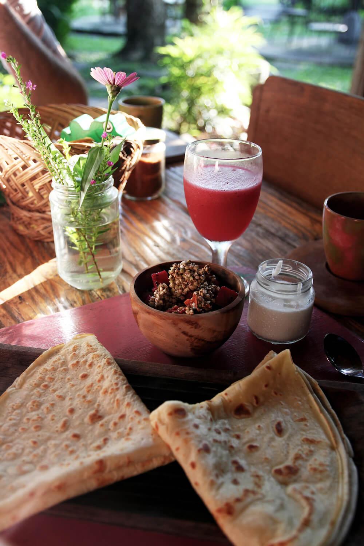 Swasti Eco Lodge ontbijt