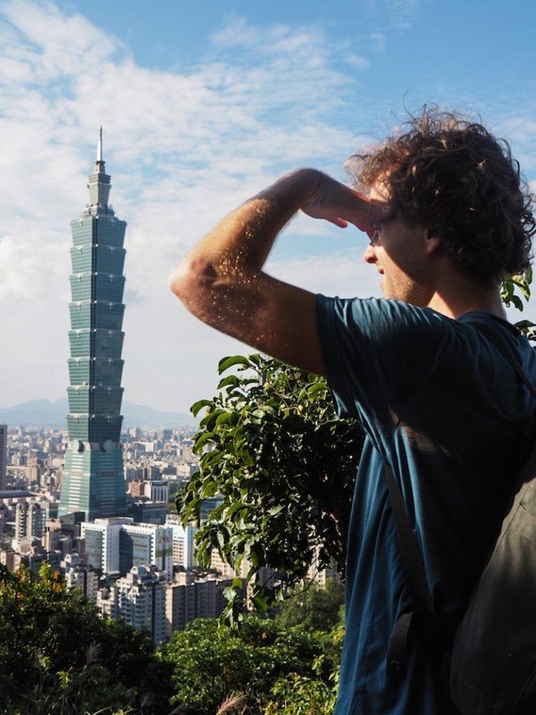 Taiwan uitzicht taipei101 elephant mountain