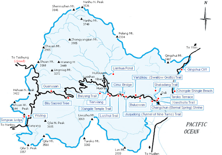 taroko-national-park-map