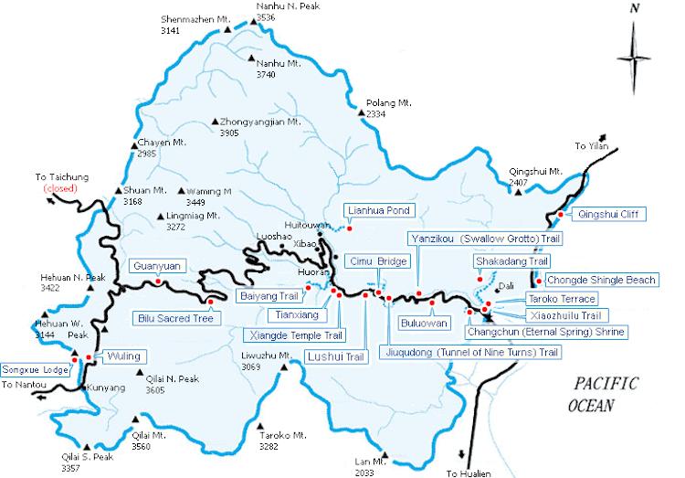 taroko-national-park-map