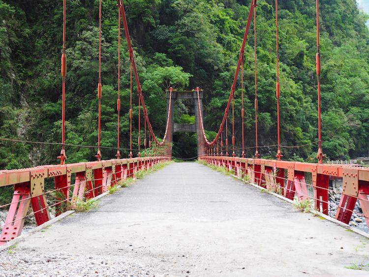 Taroko Gorge oude brug taiwan