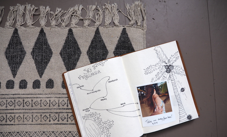 Tekening reisdagboek maken