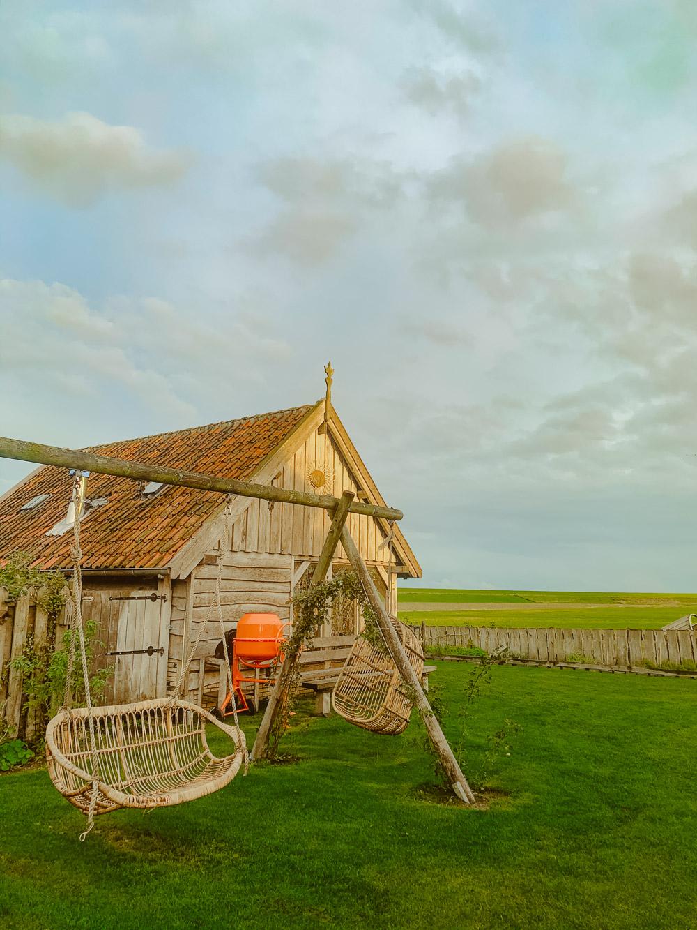 Texel OpOost tuin lodge