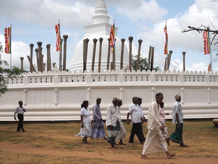Thuparama stoepa anuradhapura sri lanka