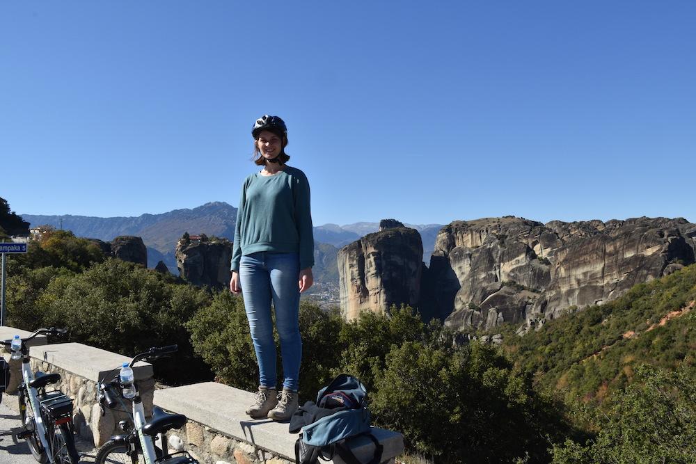 Tijdens de ebiketocht in Meteora reizen beperking