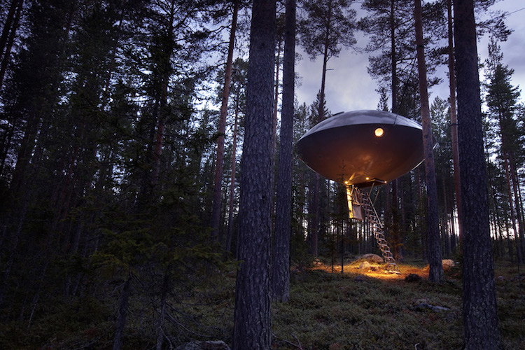 Treehotel zweden the Ufo