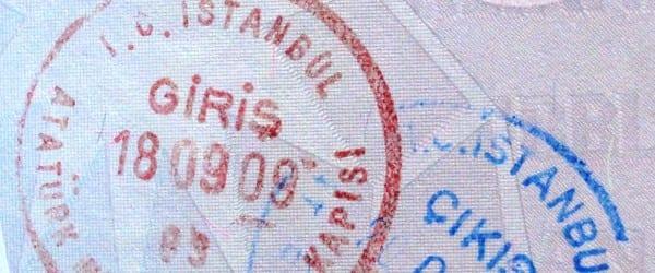 Turkije paspoort stempel