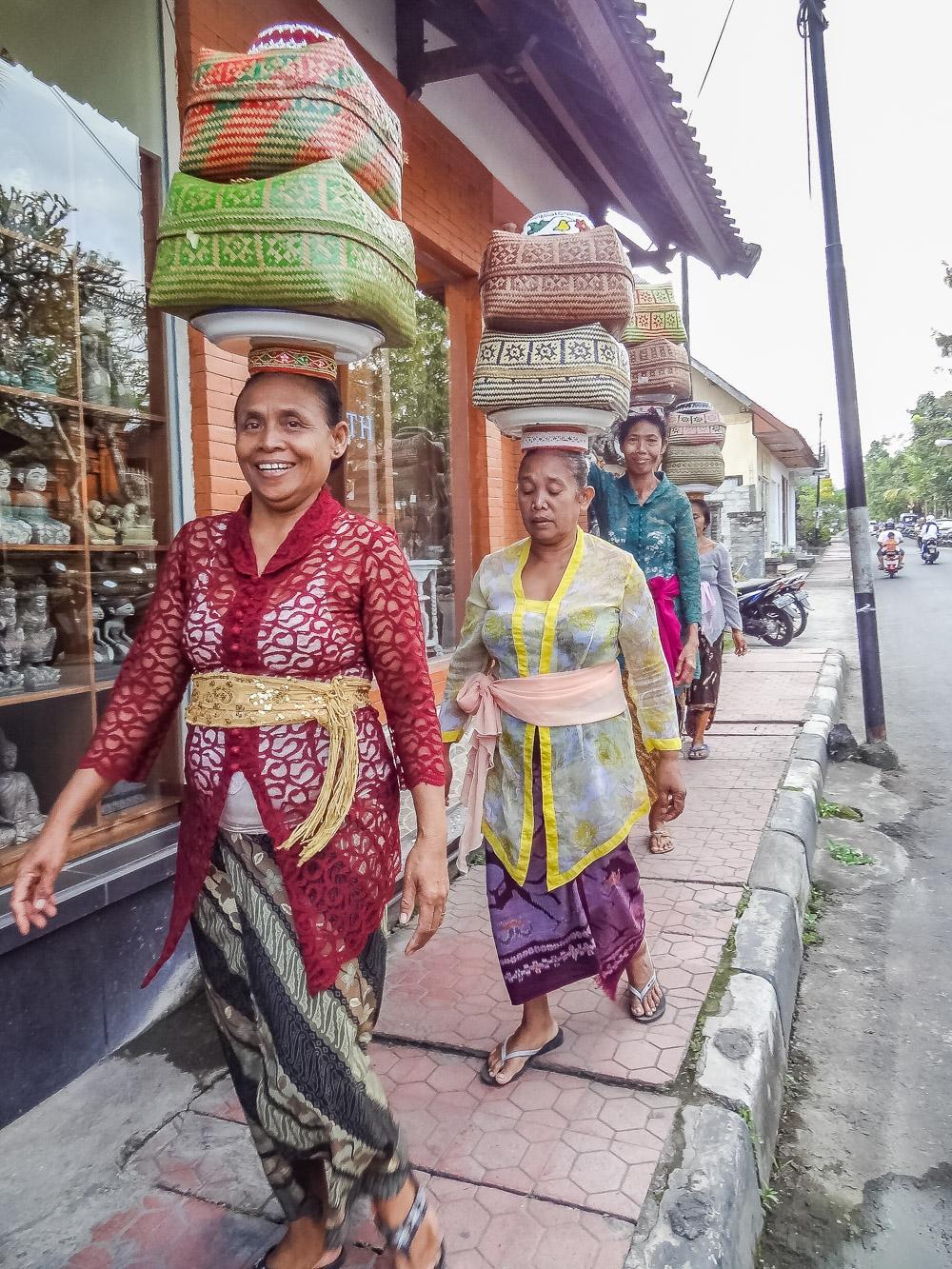 Ubud bali straatleven