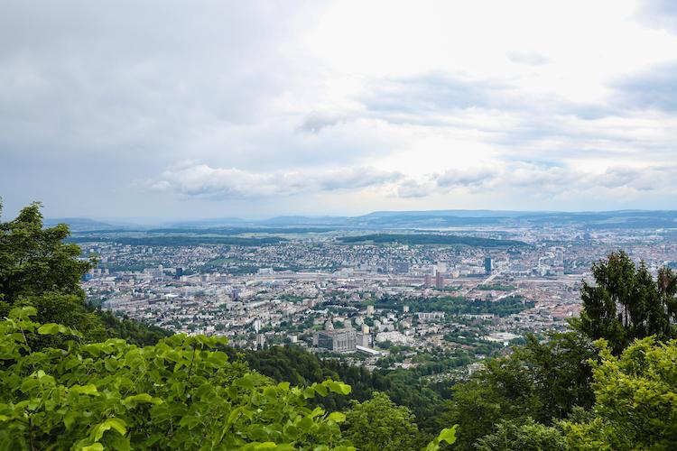 Uetliberg stedentrip Zurich viewpoint