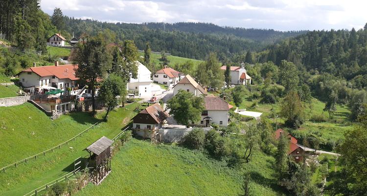 Uitzicht Predjama Castle slovenie