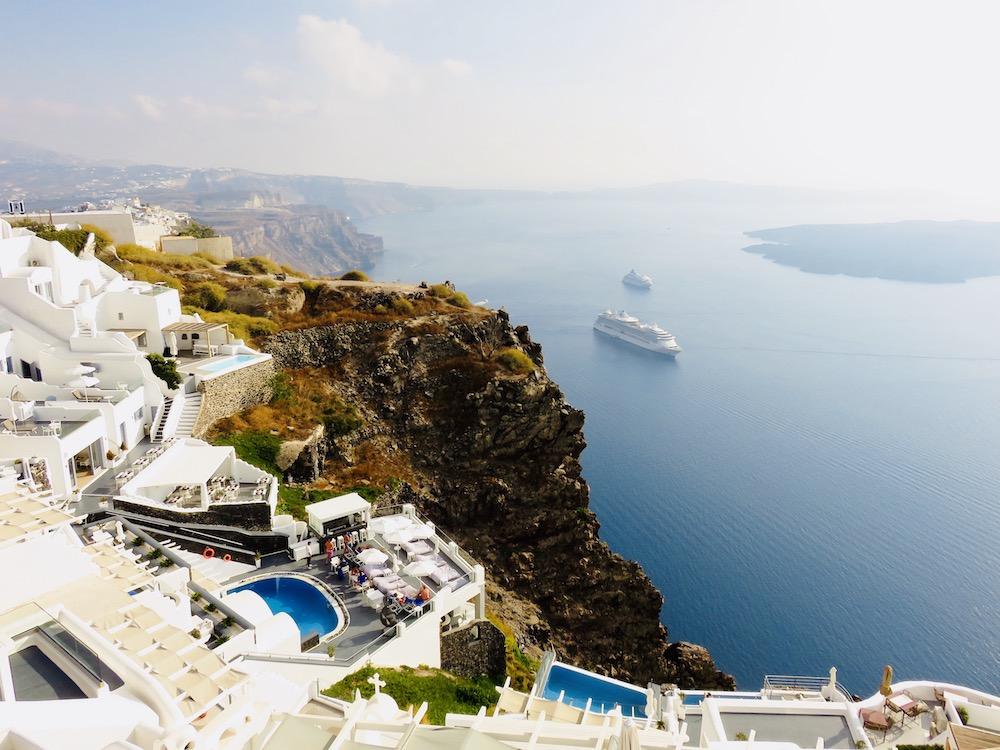 Uitzicht Thira Santorini, Cycladen