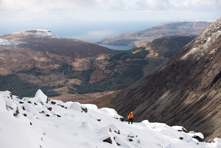 Uitzicht schotland winter Sgurr Alasdair