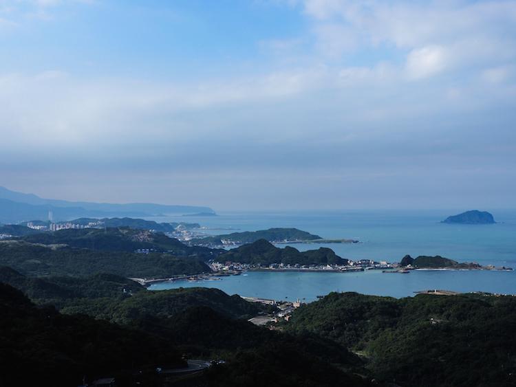Uitzicht vanaf Jiufen Taipei