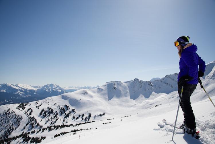 Uitzicht wintersport marmot basin