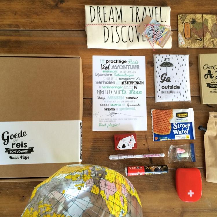 Uitzwaaibox cadeau reiziger