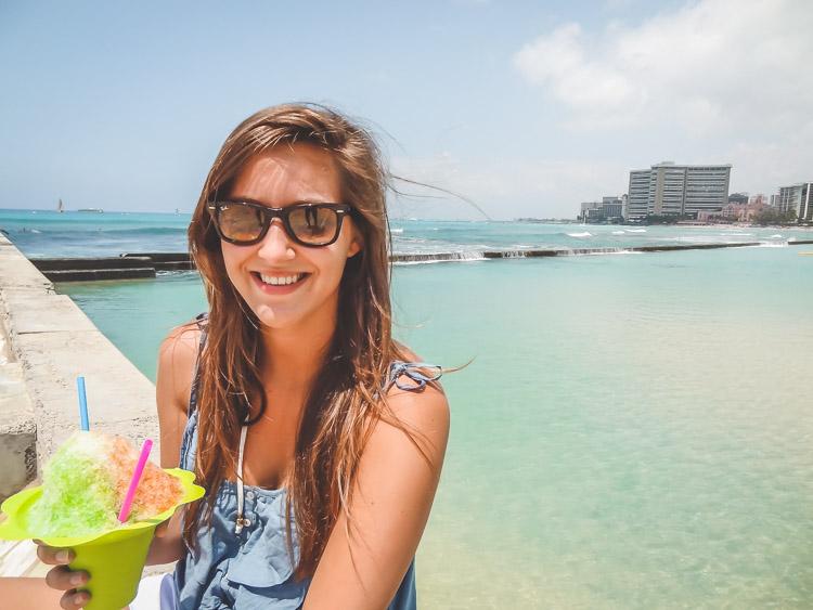 Vakantie Hawaii schaafijs Oahu waikiki beach