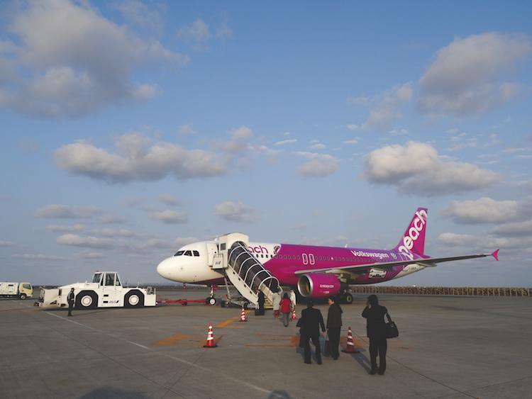Vakantie-Okinawa-Japan-Peach-Vliegtuig