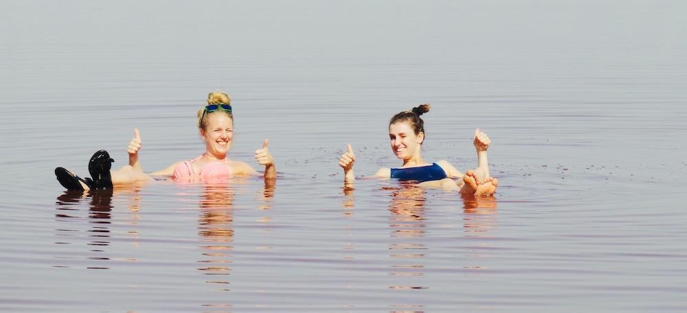 Vakantie senegal Lac Rose dode zee