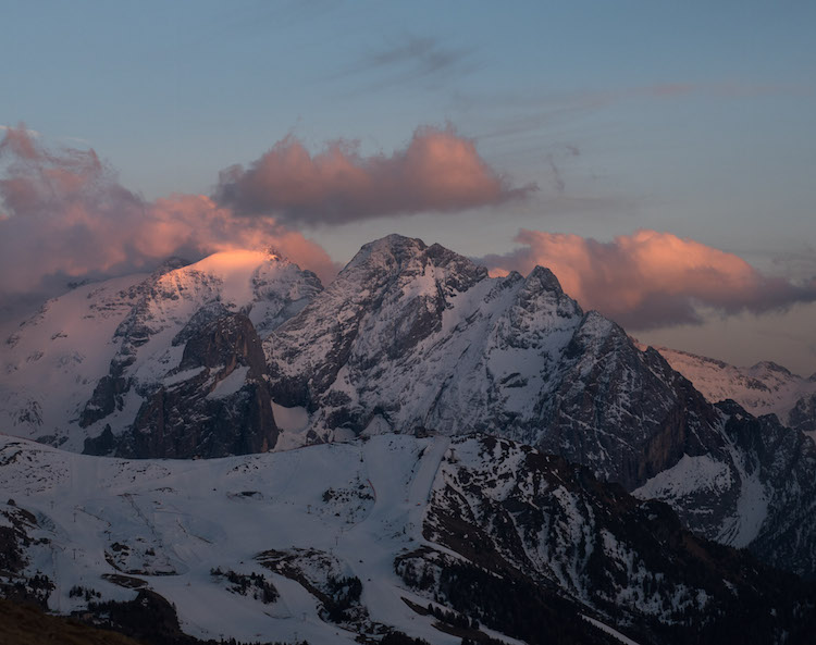 Val Gardena zonsondergang Dolomieten 12