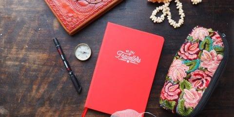 Reisdagboek cadeau geven valentijn we are travellers