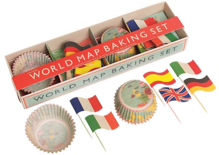 Valentijnsdag 2020 World map baking set