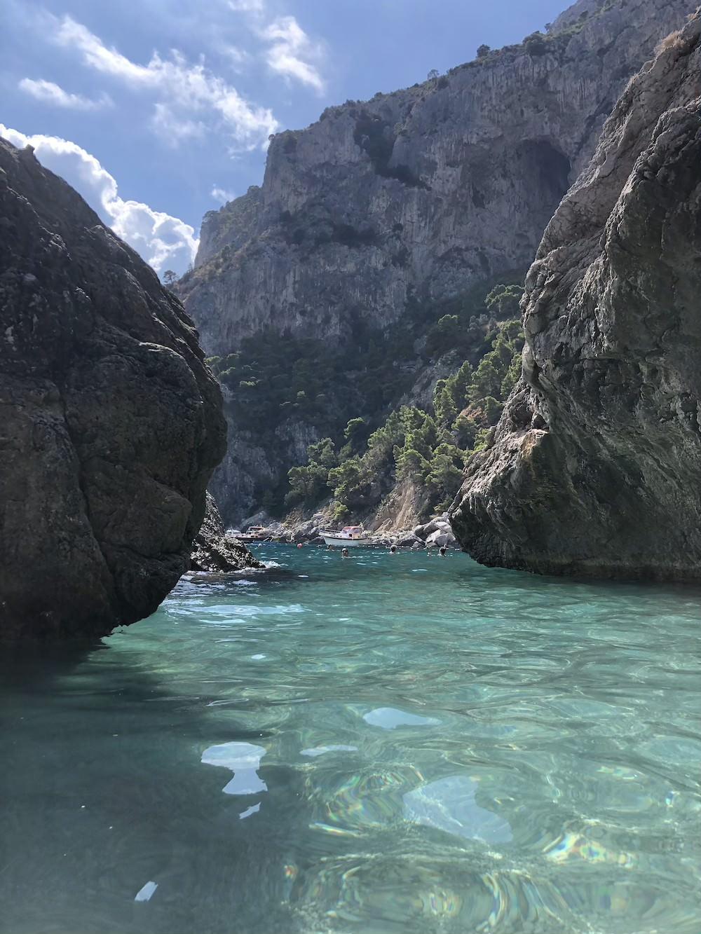 Van Napels naar Capri, Strand