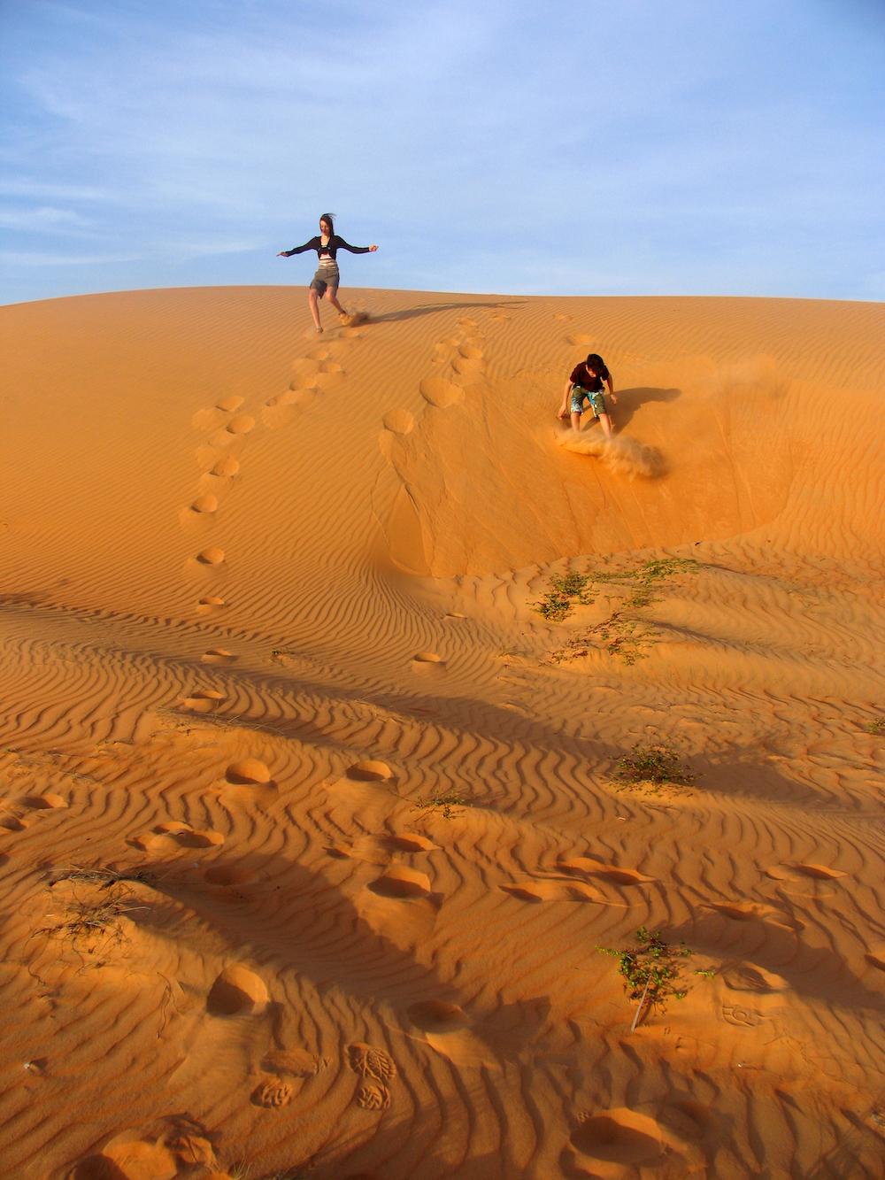 Van de duinen rollen in Lompoul