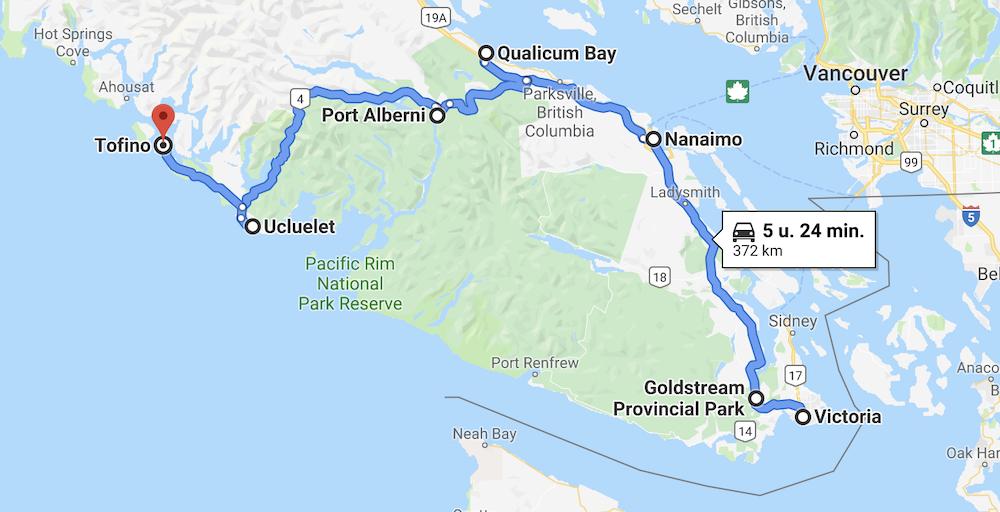 Vancvouer Island route tips