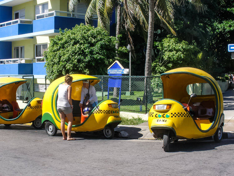 Varadero Cuba coconut taxi