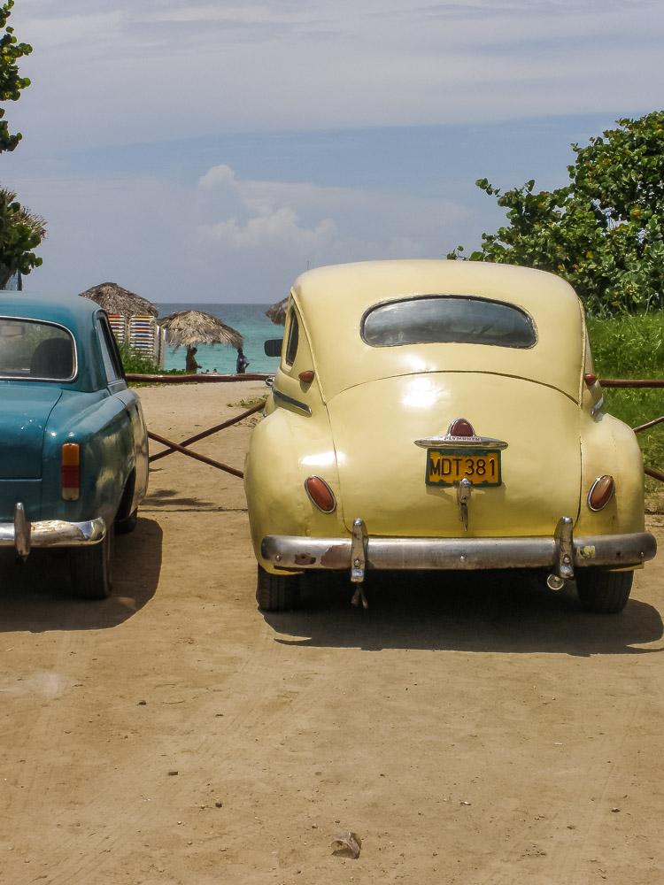 Varadero Cuba oldtimers bij het strand