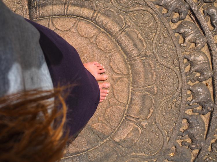 Vatadage Polonnaruwa moonstone