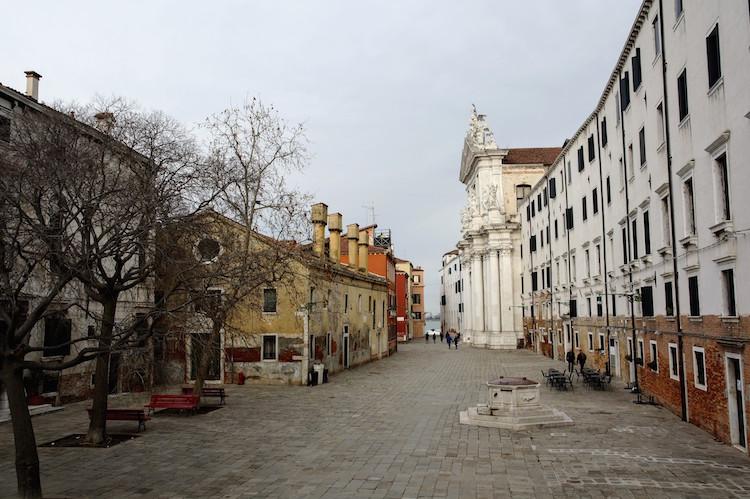 Venetie plein in de winter zonder toeristen