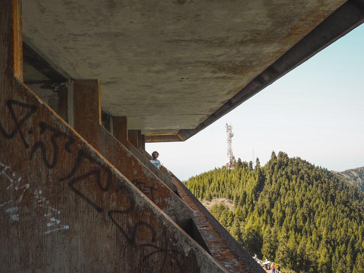 Verlaten hotel azoren sao miguel balkons