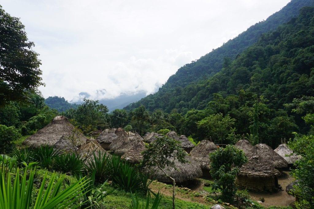 Verloren stad Colombia dorpje