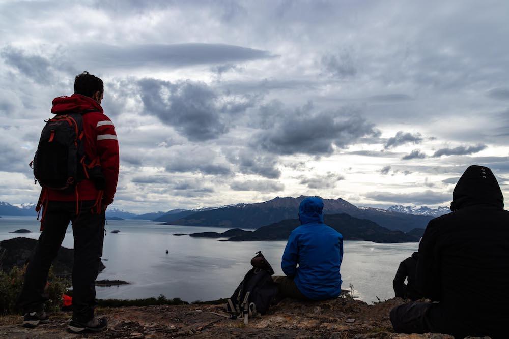 Viewpoint tijdens cruise zuid patagonie
