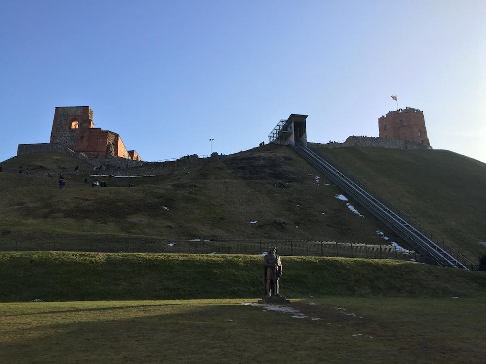 Vilnius bezienswaardigheden Gediminas Hill
