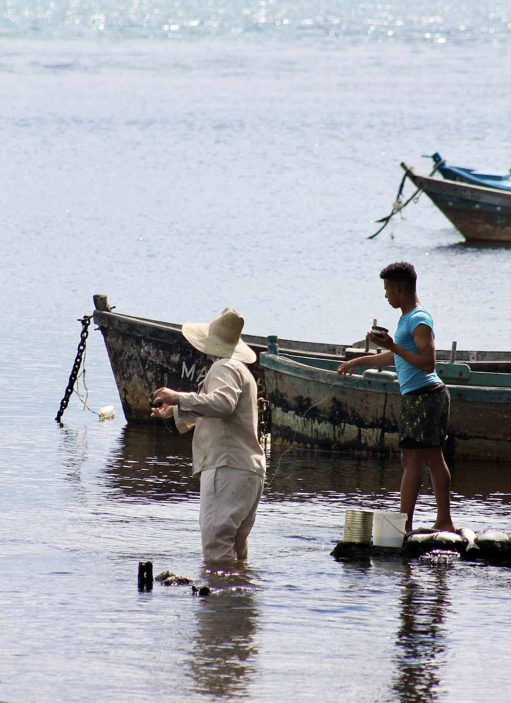 Vissers bij Montemar National Park