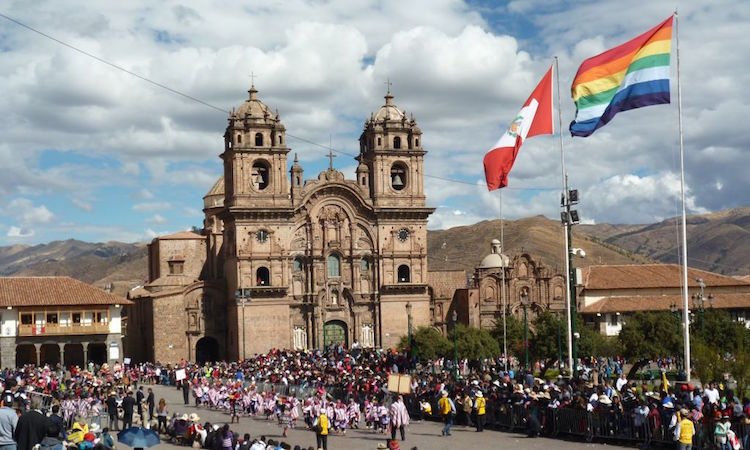 Vlag van Cusco Peru