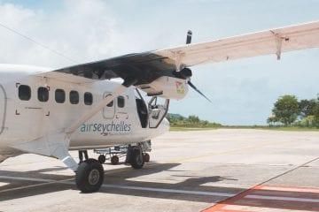 Vliegen van Mahe naar Praslin-2