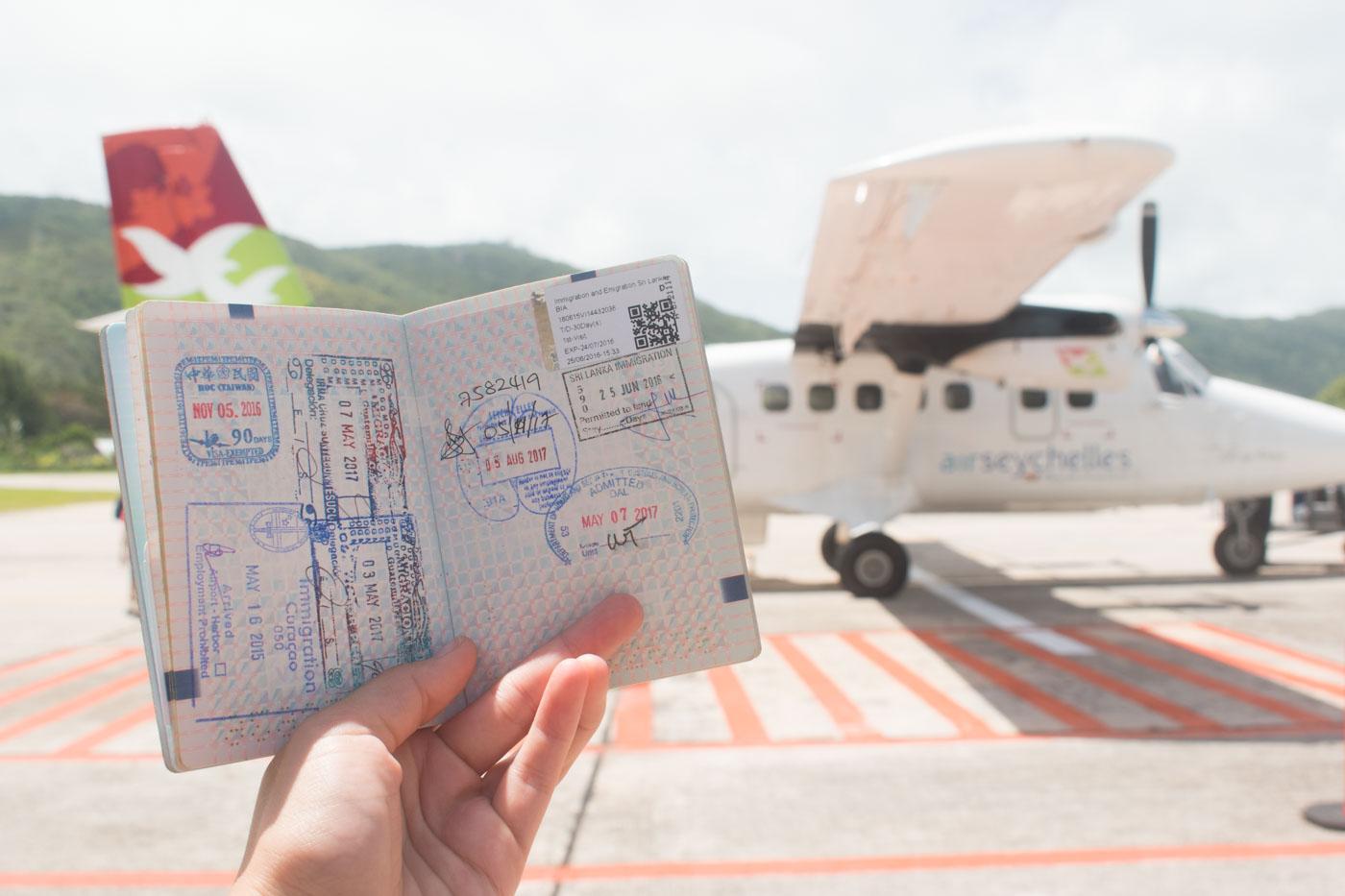 Vliegen van Mahe naar Praslin