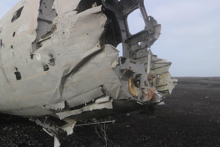 Vliegtuigwrak ijsland dichtbij