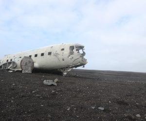 Vliegtuigwrak in ijsland